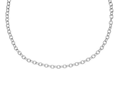 "Judith Ripka Madison 36"" Chain Necklace, Sterling"