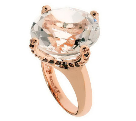 Bronzo Italia Round Faceted Quartz Ring