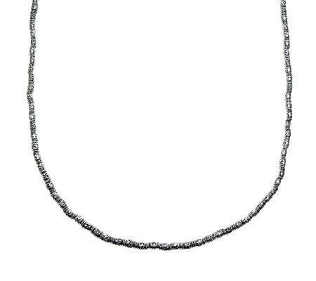 "Barbara Bixby Sterling Oxidized Bead 16"" Necklace"