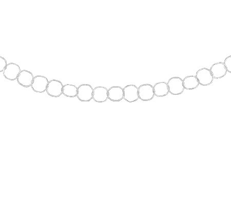 "Sterling 24"" Polished & Textured Oval Link Toggle Necklace"