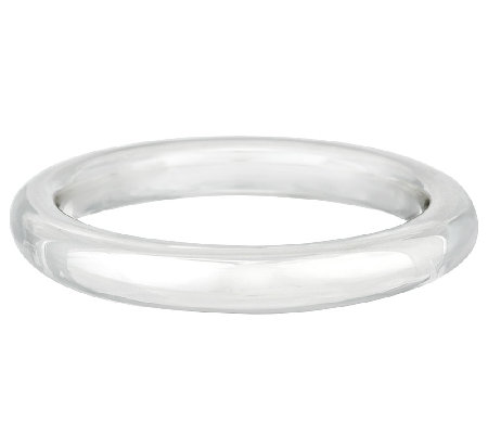 """As Is"" Ultra Fine Silver Large Bold Polished Domed Round Bangle"