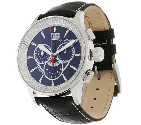 Bronze Crystal Dial Leather Strap Watch by Bronzo Italia