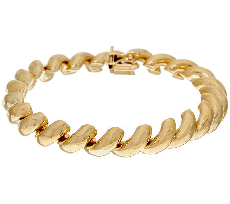 "14K Gold 6-3/4"" Polished San Marco Bracelet, 14.1g"