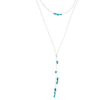 Liquid Sterling Silver 2 Strand Turquoise Bead Necklace by American West