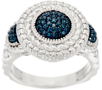 Round Textured Color Diamond Ring, Sterling, 1/5 cttw, by Affinity - J326590