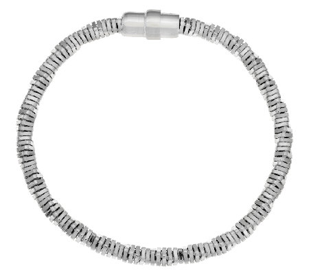 """As Is"" UltraFine Silver Twisted Snake Chain Bracelet"
