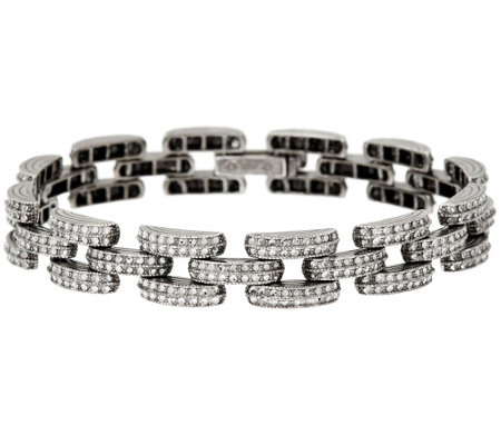 """As Is"" Sterling Silver 8"" Diamond Cut Bracelet by Silver Style"