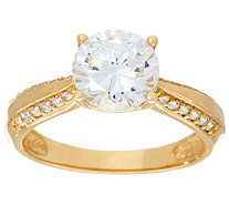 """As Is"" Diamonique 2.00ct Solitaire Ring, 14K Gold - J331390"