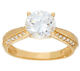 """As Is"" Diamonique 2.00 ct Solitaire Ring, 14K - J331390"