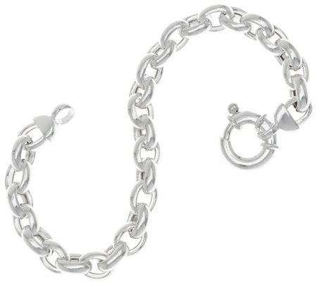 "UltraFine Silver 8"" Polished Rolo Link Bracelet 15.7g"