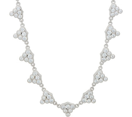 Judith Ripka Sterling 6.55 cttw Diamonique Necklace