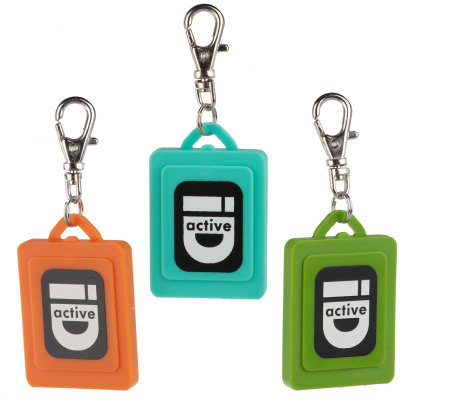 "Lisa Jenks ""Utility ID"" Set of 3 Colored Charms"