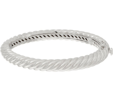 """As Is"" Sterling Ribbed Design Bangle by Silver Style 35.3g"