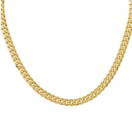 "14K Gold Beveled 20"" Curb Necklace, 51.8g"