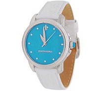 Judith Ripka Stainless Steel Turquoise Dial Watch - J378890