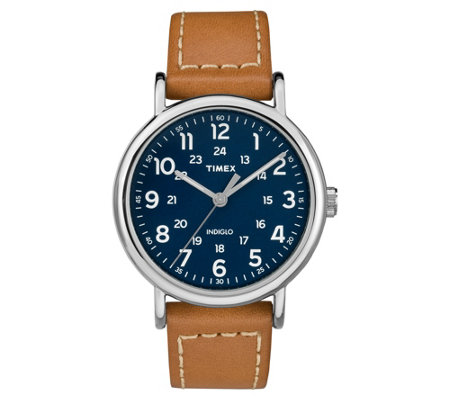 Timex Men's Weekender Tan Leather Strap AnalogWatch