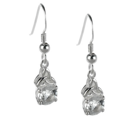 Sterling Silver Trinity Knot Earrings with White Topaz