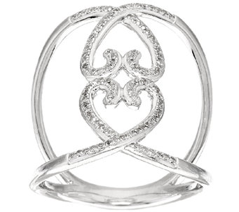 Lace Design Diamond Ring, Sterling, 1/5 cttw, by Affinity - J268991