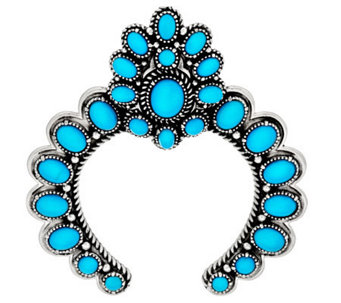 Sleeping Beauty Turquoise Naja Sterling Silver Enhancer by American West - J283091