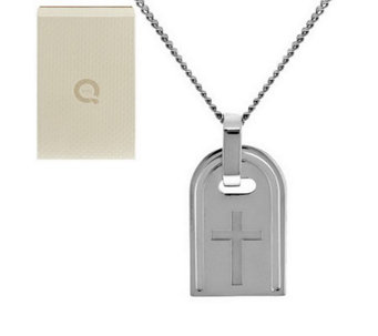 Bronzo Italia White Bronze Symbol Tag Necklace - J285191