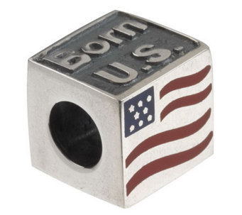 """As Is"" Tara's Diary Sterling Silver Born in the USA Charm - J288591"