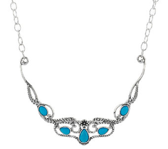 Sleeping Beauty Turquoise Sterling Silver Necklace by American West - J294991