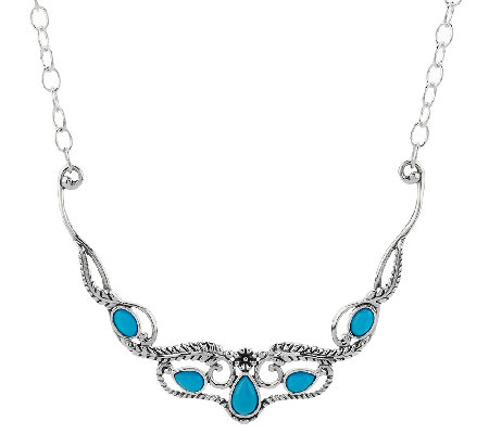 Sleeping Beauty Turquoise Sterling Silver Necklace by American West