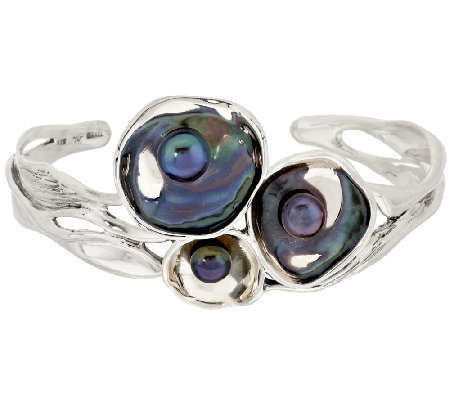 Hagit Reflections Cultured Pearl Sterling Cuff