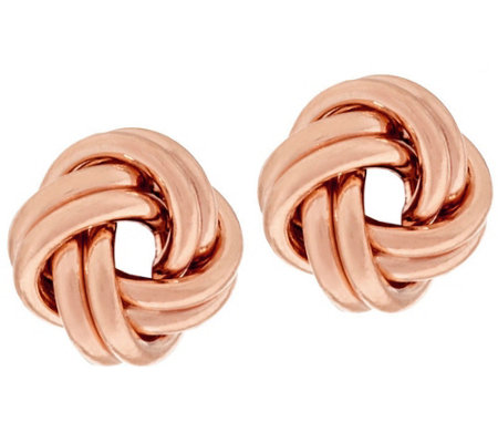 EternaGold Polished Love Knot Earrings 14K Gold