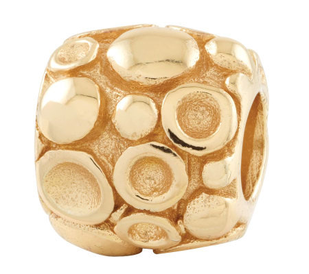 Prerogatives 14K Yellow Gold-Plated Sterling Dots Bali Bead