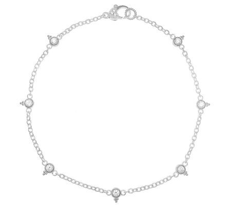Judith Ripka Sterling Silver and Diamonique Anklet