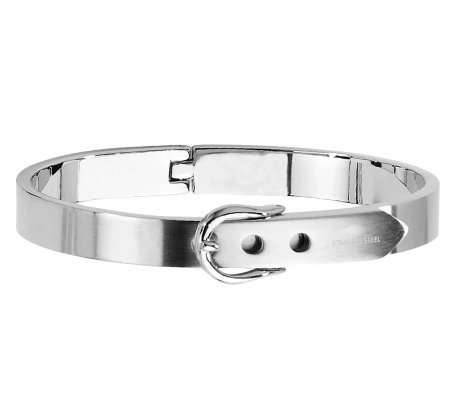 Stainless Steel Fancy Belt Hinged Bracelet