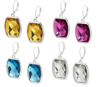 Joan Rivers Set of 4 Jewelbox Lever Back Earrings - J317591