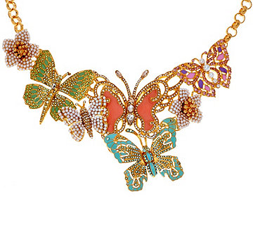 Joan Rivers Lt. Ed. Crystal Butterfly Statement Necklace - J319091