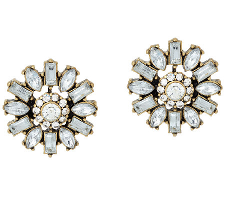 BaubleBar Crystal Dandelion Stud Earrings