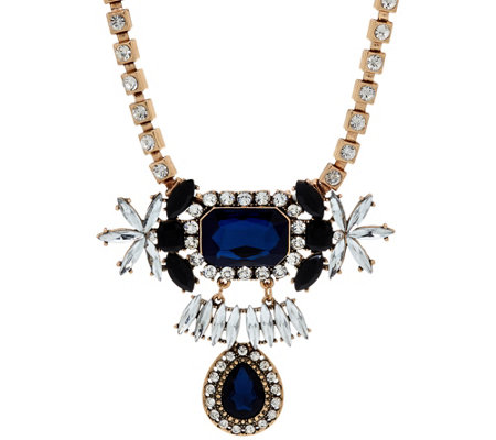 Susan Graver Drop Statement Necklace