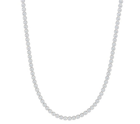 "Diamonique 22.00 cttw 30"" Tennis Necklace Sterling"