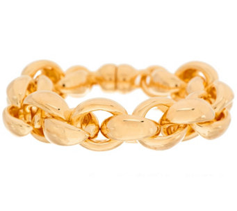 """As Is"" G.I.L.I Oro Nuovo 6-3/4"" Rolo Bracelet, 14K - J332191"