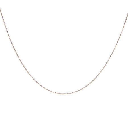 "20"" Singapore Chocolate Gold Necklace, 14K"