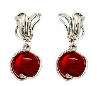 Kalos by Hagit Sterling Pomegranate Glass DropEarrings - J337291