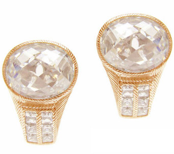 Judith Ripka Sterling & 14K Clad 12.60cttw Diamonique Earring - J339991