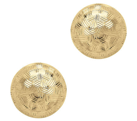 EternaGold 8MM Checkerboard Ball Stud Earrings,14K Gold