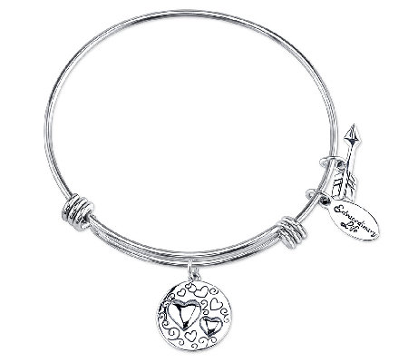 Sterling Do What You Love Charm Bangle by Extraordinary Life