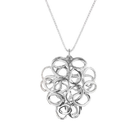 Hagit Sterling Silver Interlocking Circle Pendant w/ Chain