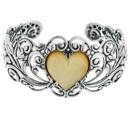 Carolyn Pollack Sterling Sincere Heart GemstoneDoublet Cuff