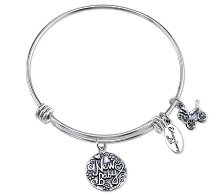 Extraordinary Life Sterling New Baby AdjustableBangle