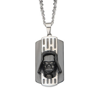 Star Wars Stainless 3D Darth Vader Dog Tag withChain - J342791