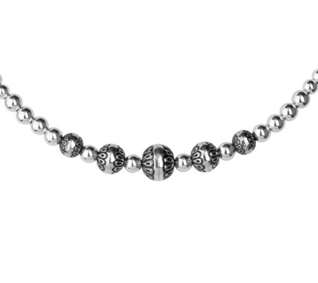 American West Sterling Native Bead Choker Necklace