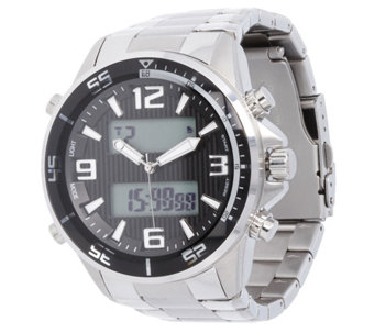 Stainless Steel Bold Digital Panther Link WatchMen's - J344391