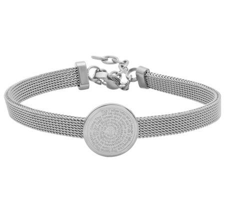 Stainless Steel Mesh Bracelet with Prayer Station